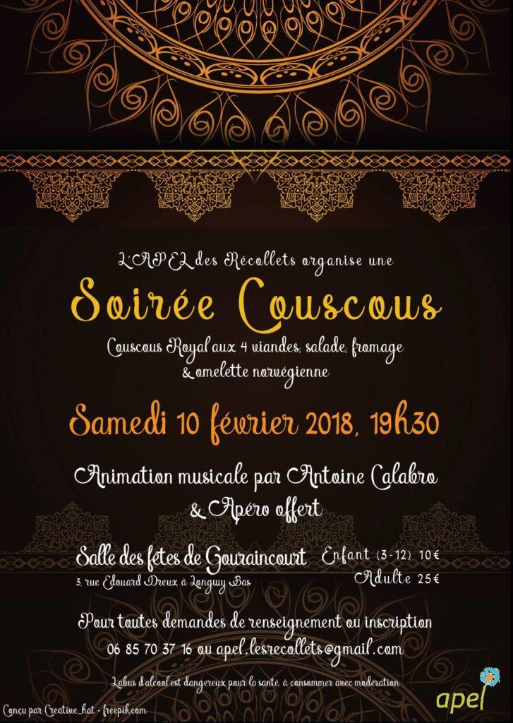 Soirée Couscous – 10 février 2018