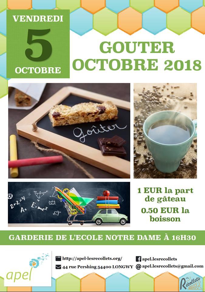 Goûter d'octobre à l'école Notre Dame